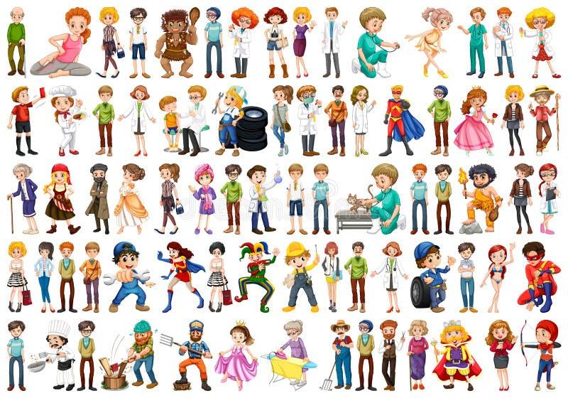 Groep verschillende mensen vector illustratie