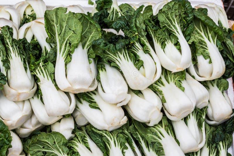 Groep verse groene groente (Chinese kool), bok choy stock foto's