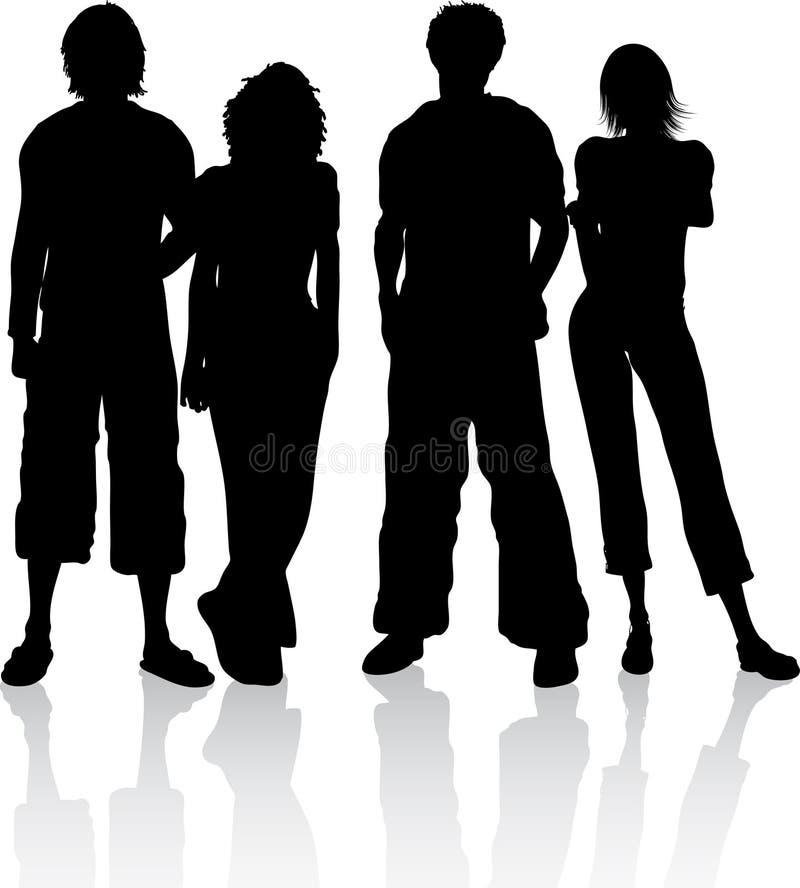 Groep vrienden vector illustratie
