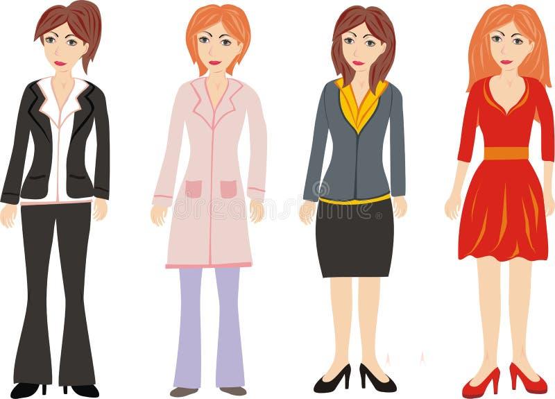 Groep vrouwen royalty-vrije stock afbeelding
