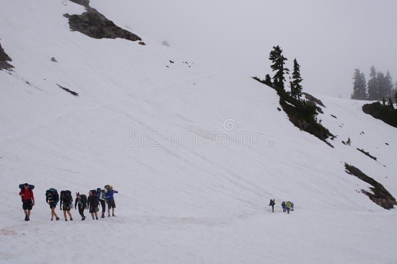 Groep wandelaars royalty-vrije stock foto