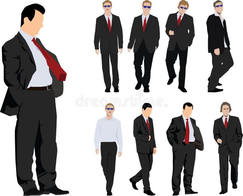 Groep zakenlieden royalty-vrije illustratie