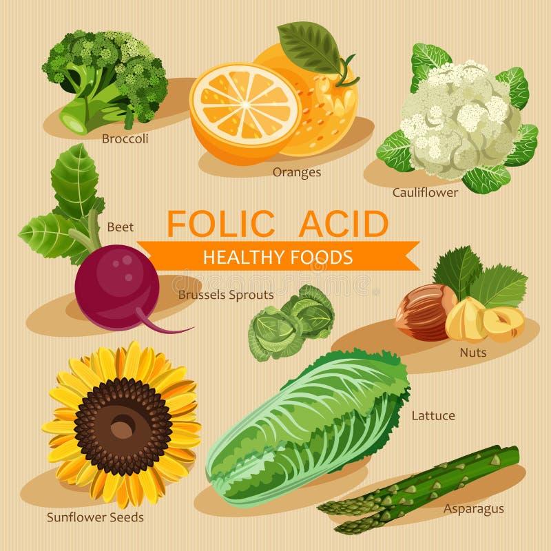 Groepen gezond fruit, groenten, vlees, vissen en zuivelproducten royalty-vrije illustratie