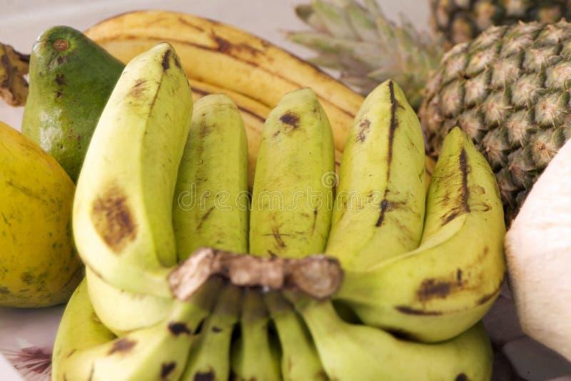 Groepen Tropische Vruchten in Ghana royalty-vrije stock afbeeldingen