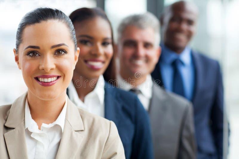 Groeps commercieel team stock fotografie