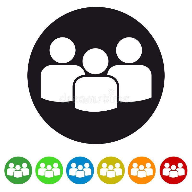Groeps mensen vlak pictogram voor apps en websites stock illustratie