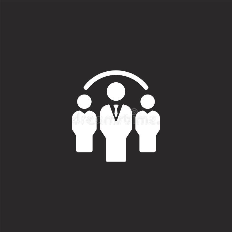 Groepspictogram Gevuld groepspictogram voor websiteontwerp en mobiel, app ontwikkeling groepspictogram van gevulde gevulde beheer royalty-vrije illustratie
