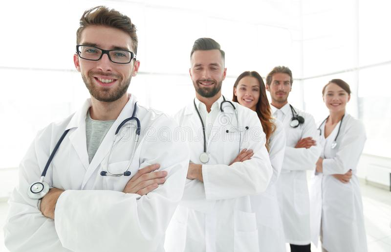 Groepsportret van belangrijke medische beroeps royalty-vrije stock afbeelding
