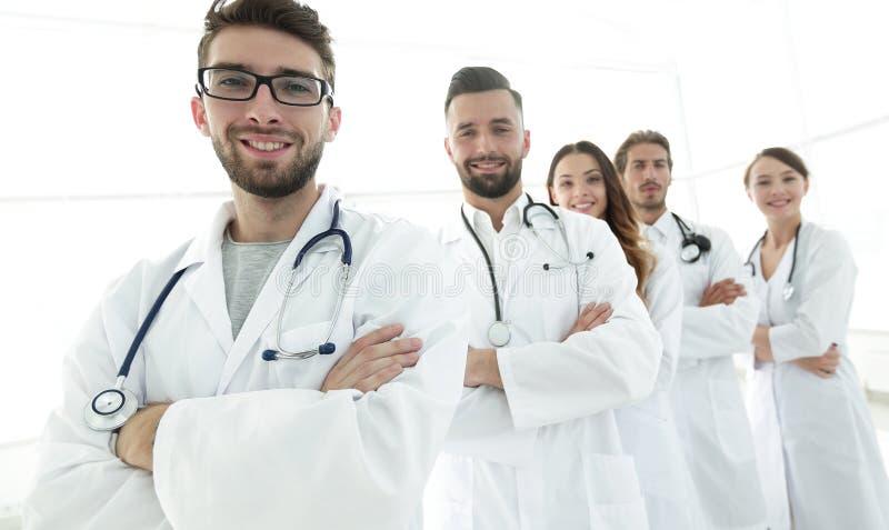 Groepsportret van belangrijke medische beroeps stock afbeelding