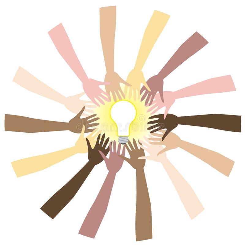 Groepswerk vector illustratie