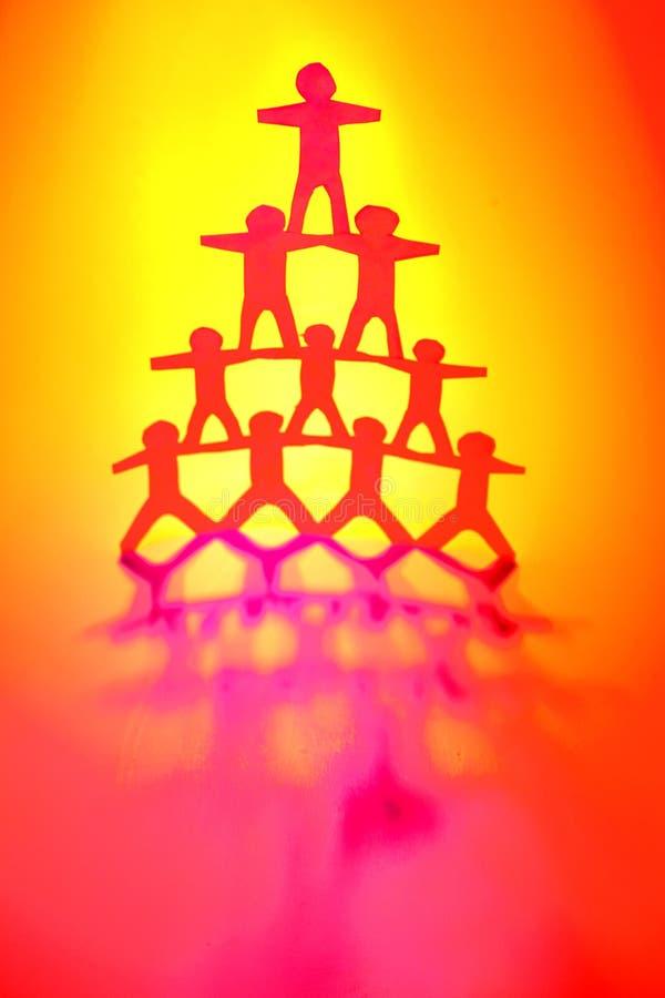 Groepswerk stock afbeelding