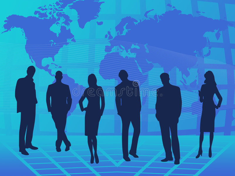 Groepswerk royalty-vrije illustratie