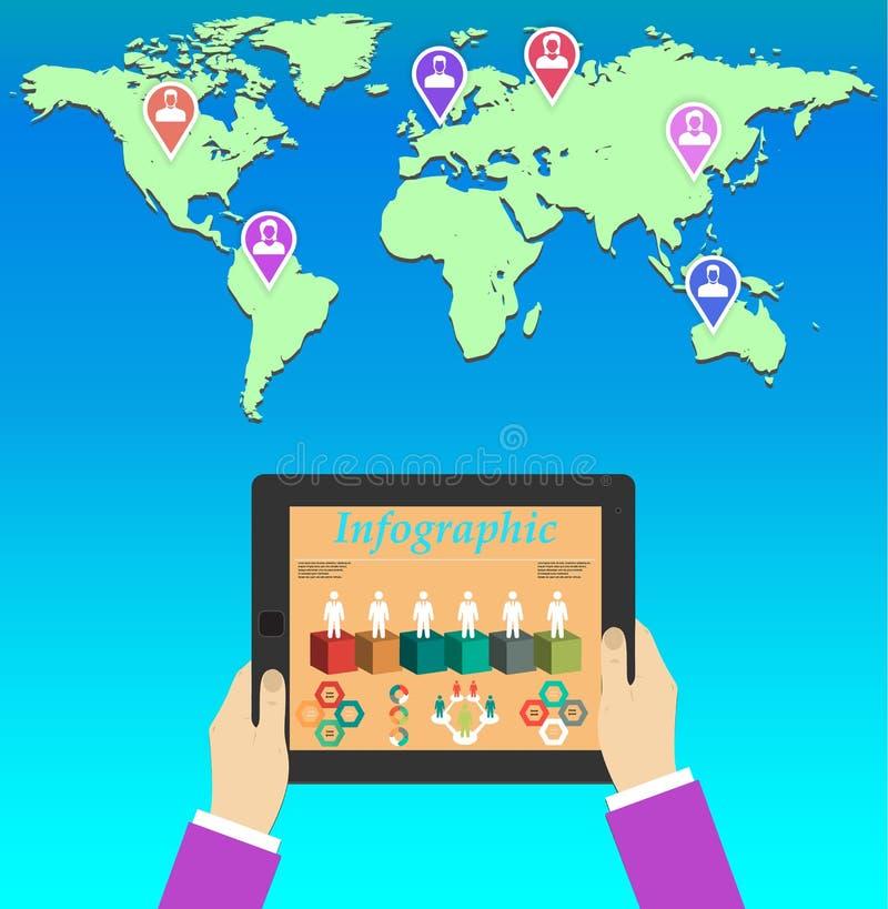 groepswerk Concept globale bedrijfsmededeling stock illustratie