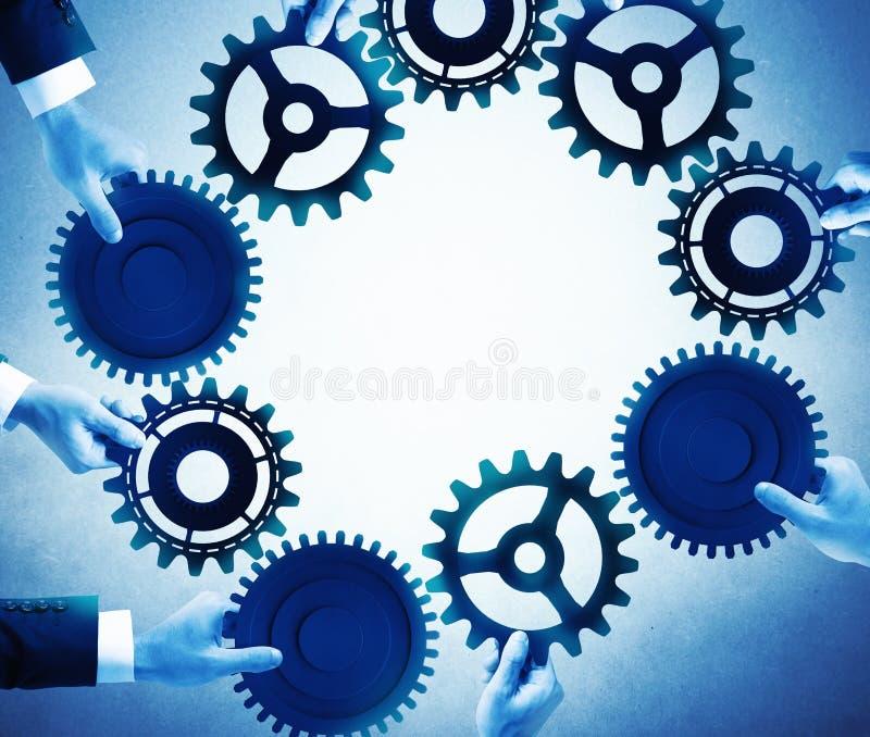 Groepswerk en integratieconcept stock afbeelding