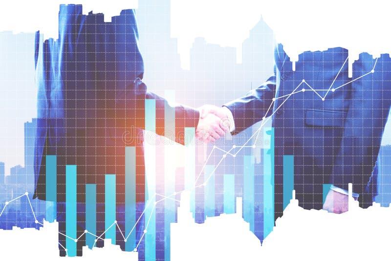 Groepswerk en investeringsconcept royalty-vrije illustratie