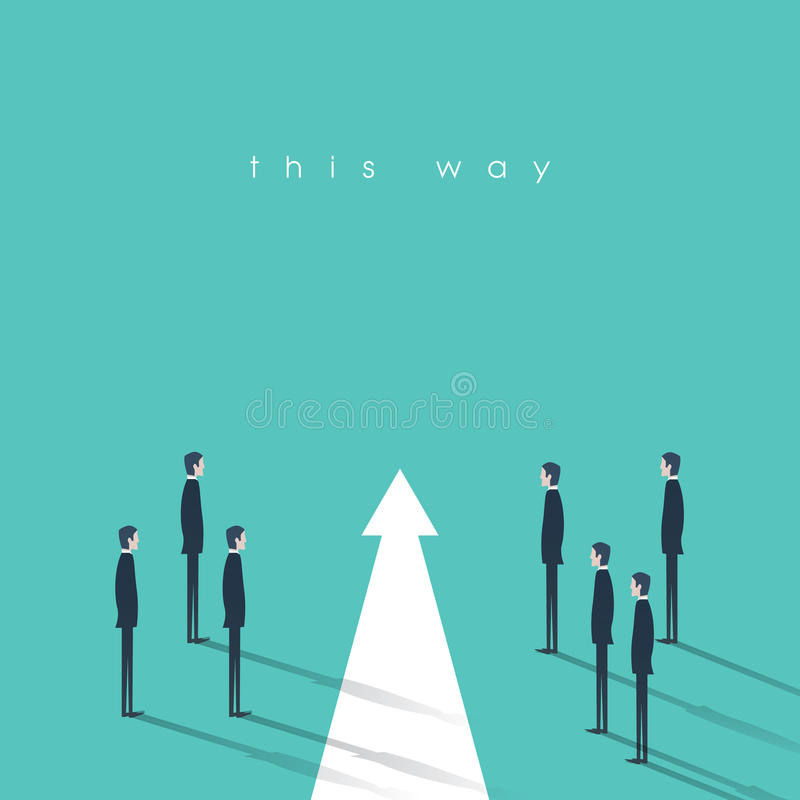 Groepswerk en leidings bedrijfsconcepten vectorillustratie Symbool van onbetwistbaarheid, juist besluit, planning, strategie stock illustratie