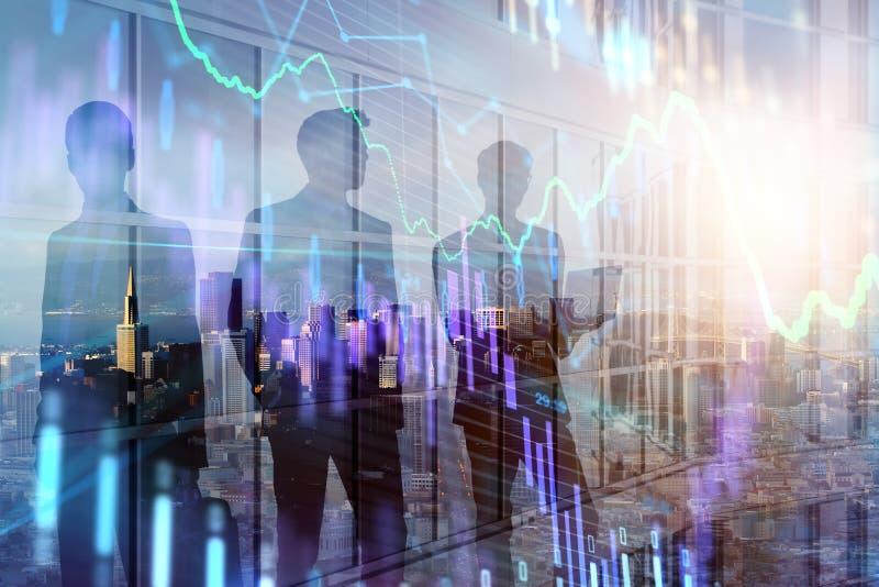 Groepswerk en voorraadconcept stock illustratie