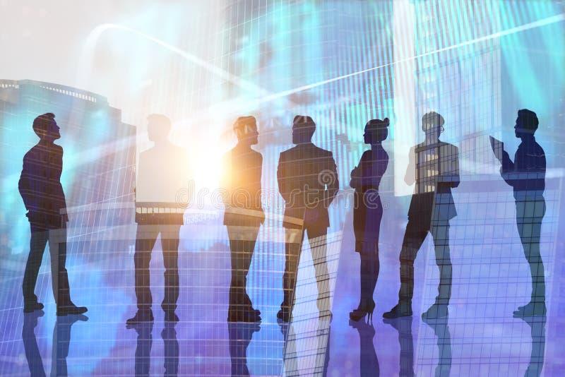 Groepswerk, financiën en bankwezenconcept royalty-vrije illustratie