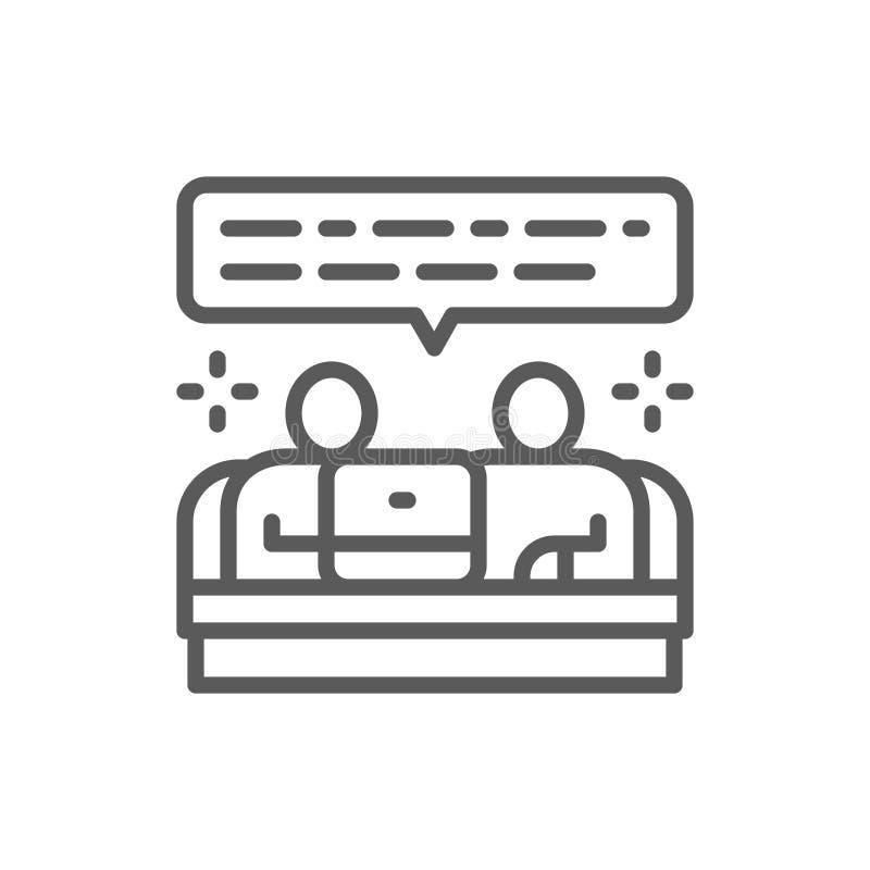 Groepswerk, het pictogram van de teamcommunicatielijn vector illustratie