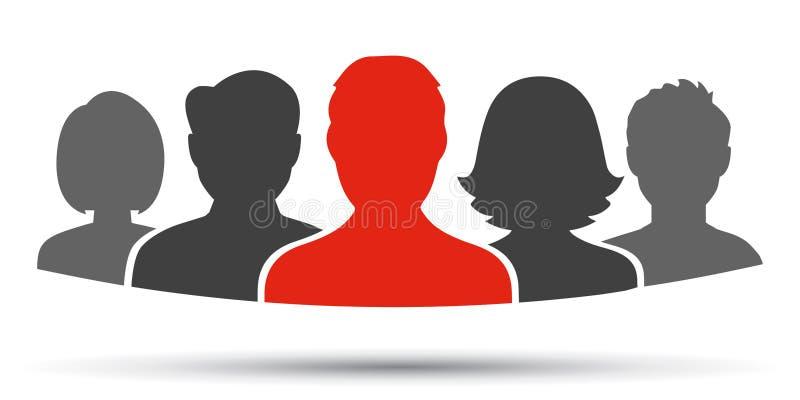 Groepswerk, personeel, vennootschappictogram - voor voorraad vector illustratie