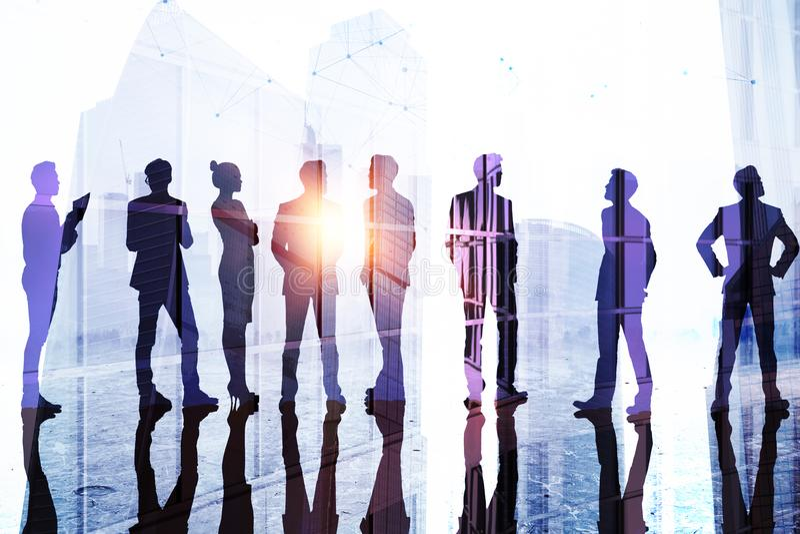 Groepswerk, succes en teamconcept royalty-vrije illustratie