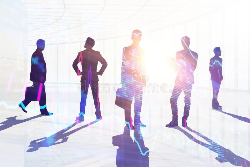Groepswerk, vergaderings en baanconcept vector illustratie