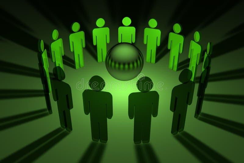 Groepswerk wereldwijd vector illustratie
