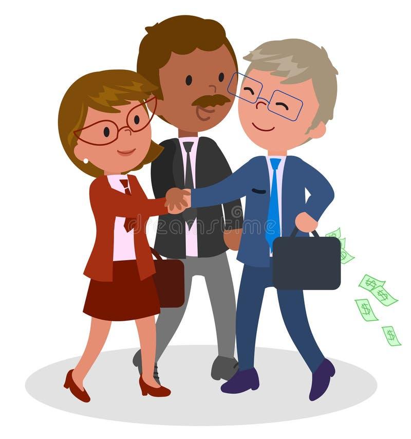 Groepswerkillustratie stock illustratie