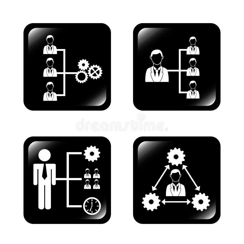 Groepswerkmensen stock illustratie