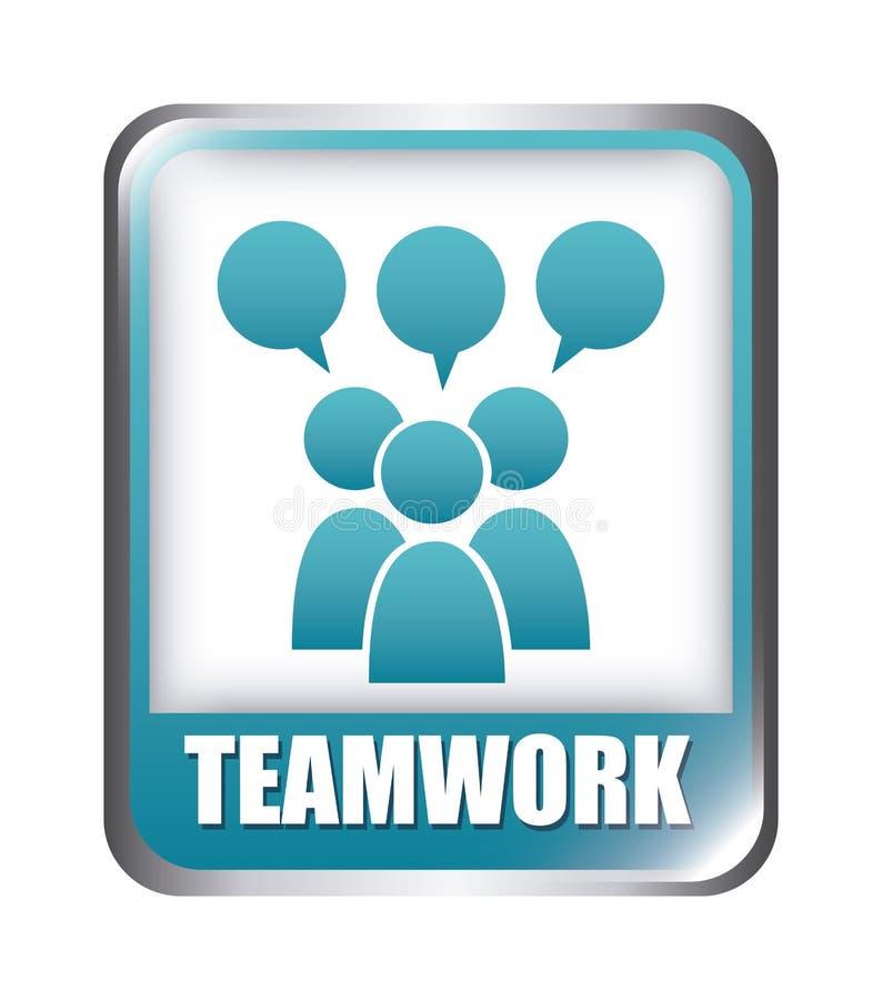 Groepswerkontwerp stock illustratie