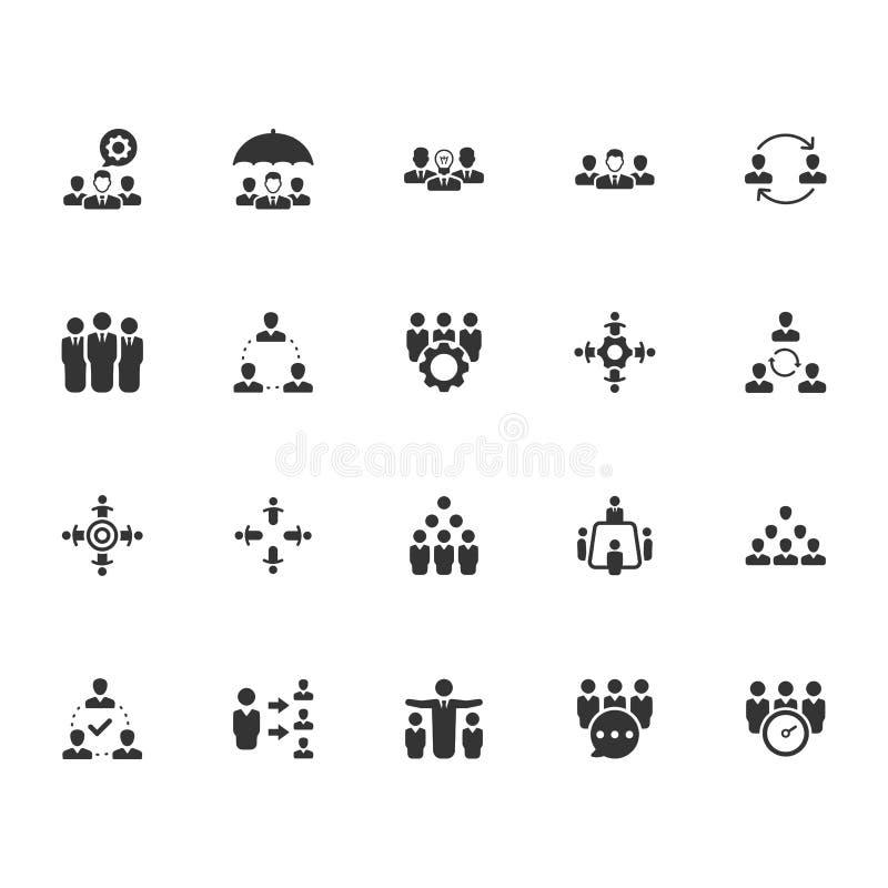 Groepswerkpictogrammen - Gray Version vector illustratie