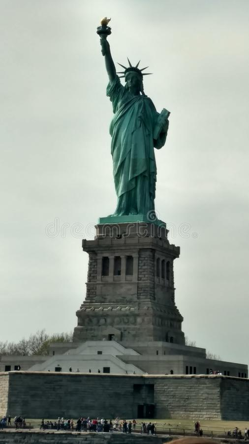 Groet Dame Liberty royalty-vrije stock foto's