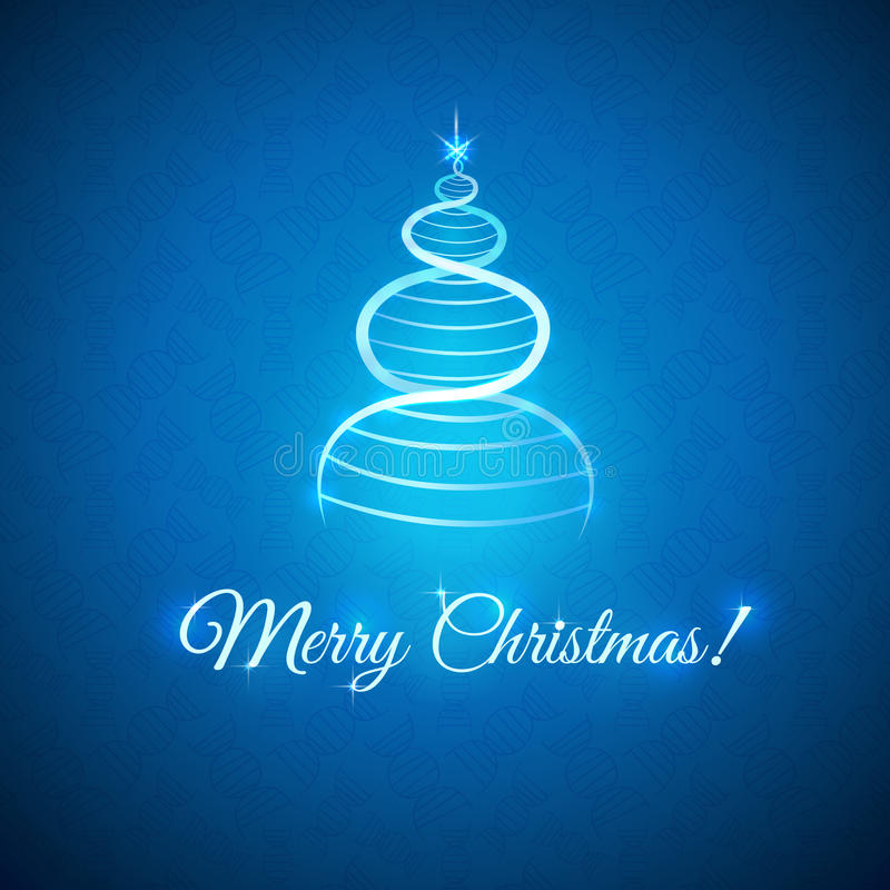 Groeten met Kerstmis vector illustratie