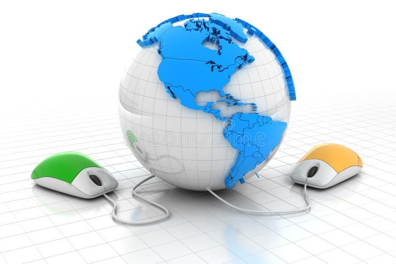 Groeten over de Wereld stock illustratie