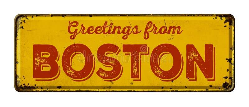 Groeten van Boston royalty-vrije stock afbeeldingen