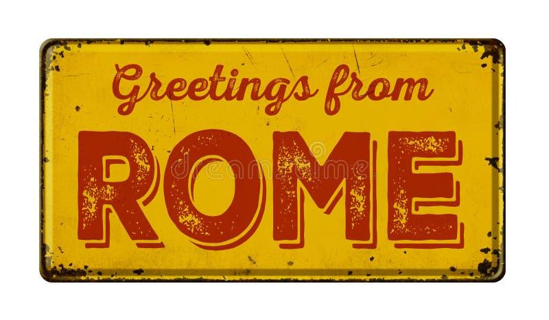 Groeten van Rome royalty-vrije stock fotografie