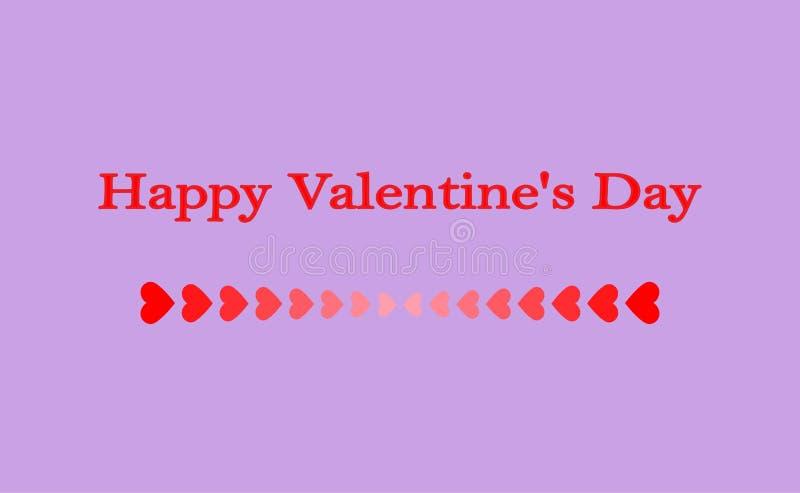Groetkaart ` Gelukkig Valentine ` s Dag ` stock illustratie