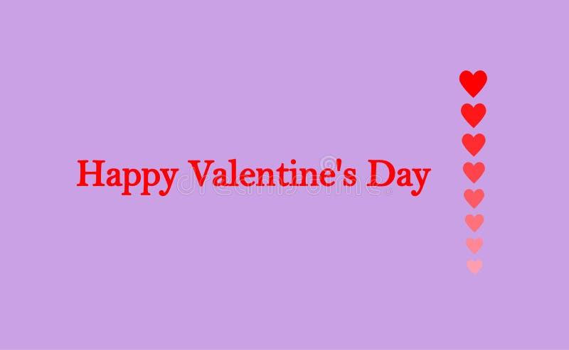 Groetkaart ` Gelukkig Valentine ` s Dag ` vector illustratie