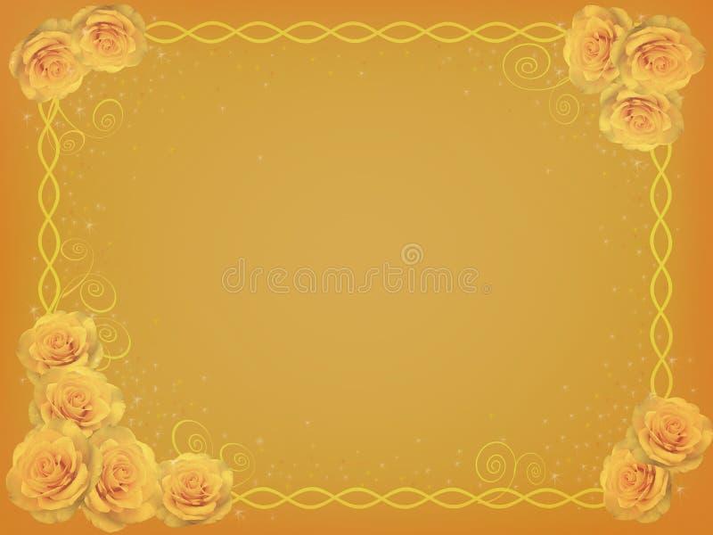 Groetkaart met gele rozen vector illustratie