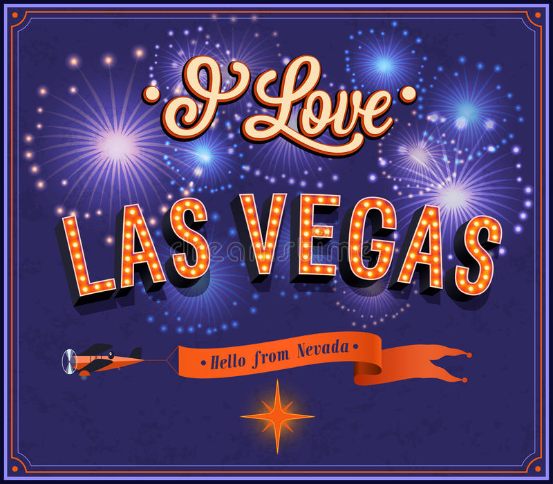 Groetkaart van Las Vegas - Nevada stock illustratie