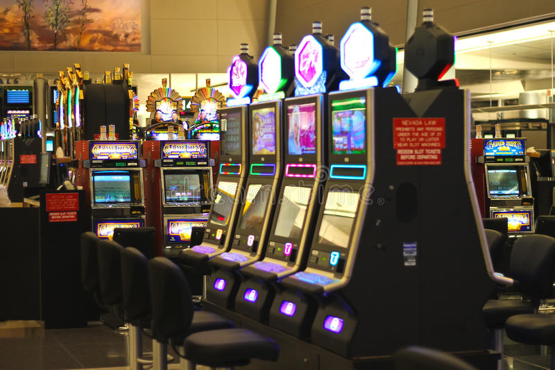 Groeven in de luchthaven McCarran in Las Vegas, Nevada royalty-vrije stock foto's