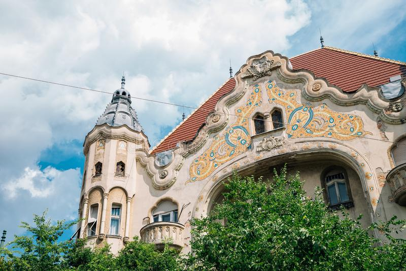 Grof Palota Art Nouveau Architecture in Szeged, Hongarije royalty-vrije stock foto