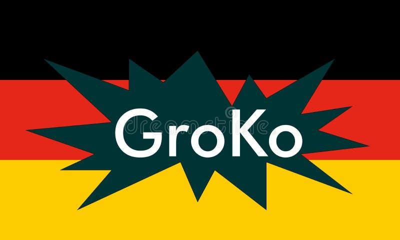 Groko (coalición magnífica) ilustración del vector