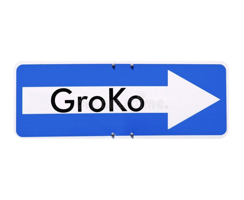 Groko (grande coalizione) fotografia stock