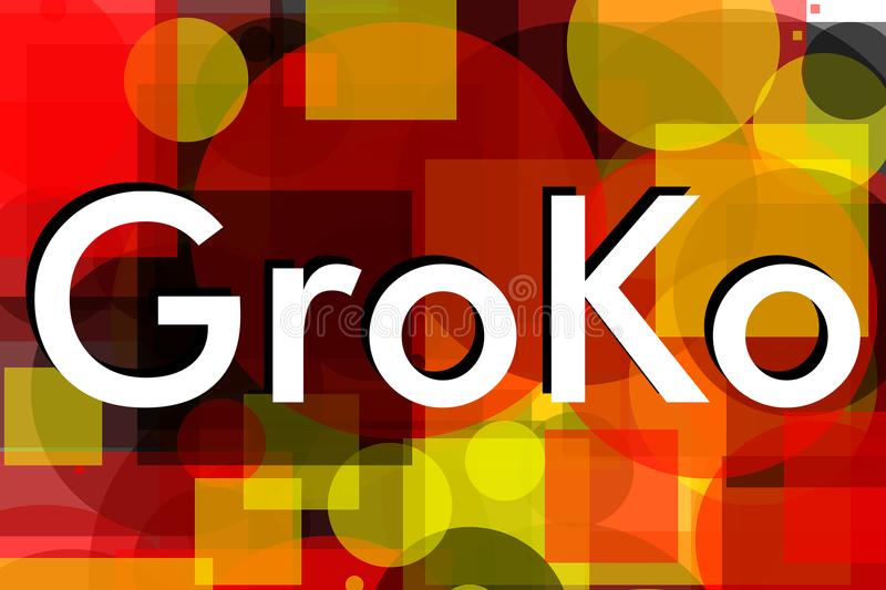 Groko (Große Koalition) stockfoto