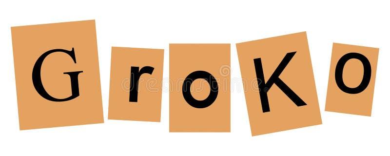 Groko (Grote Coalitie) stock illustratie
