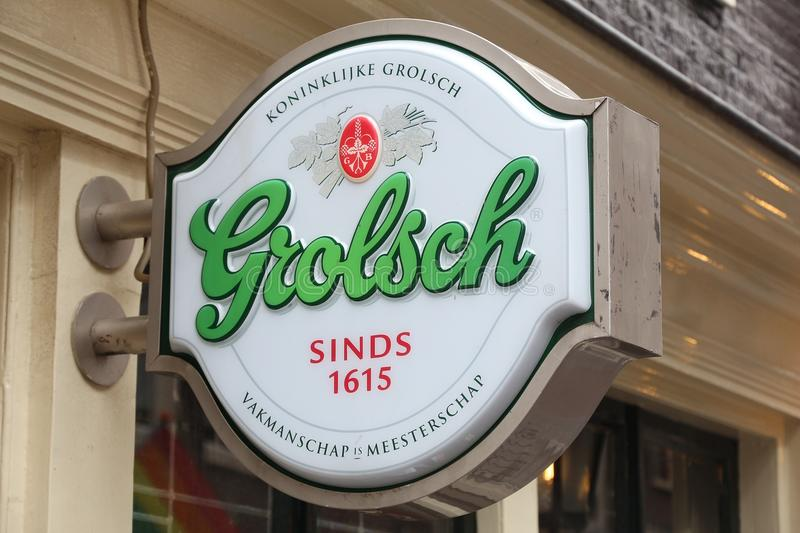 Grolsch beer sign stock photography
