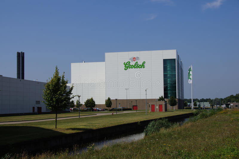 Grolsch factory in Enschede. The Grolsch beer brewery in Enschede, the Netherlands stock photos