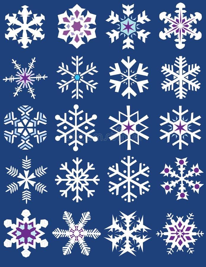 gromadzenie różnych tworzy płatki śniegu ilustracji