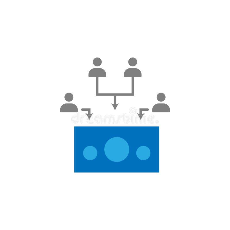 Gromadzić fundusze i inwestor ikona Element interfejs użytkownika ikona dla mobilnych pojęcia i sieci apps Szczegółowy Gromadzić  ilustracji